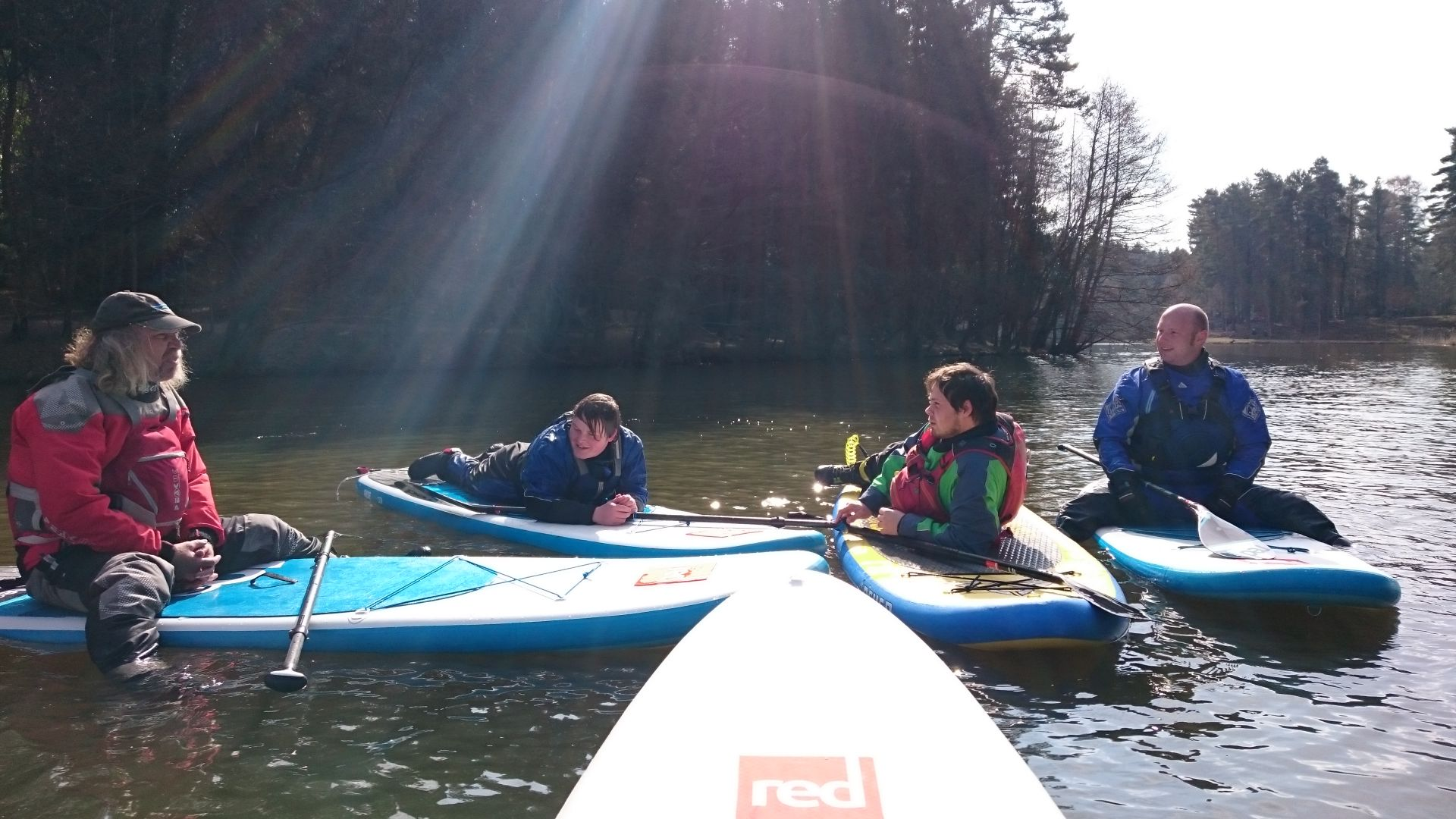 British Canoeing SUP instructors module on Mallards Pike