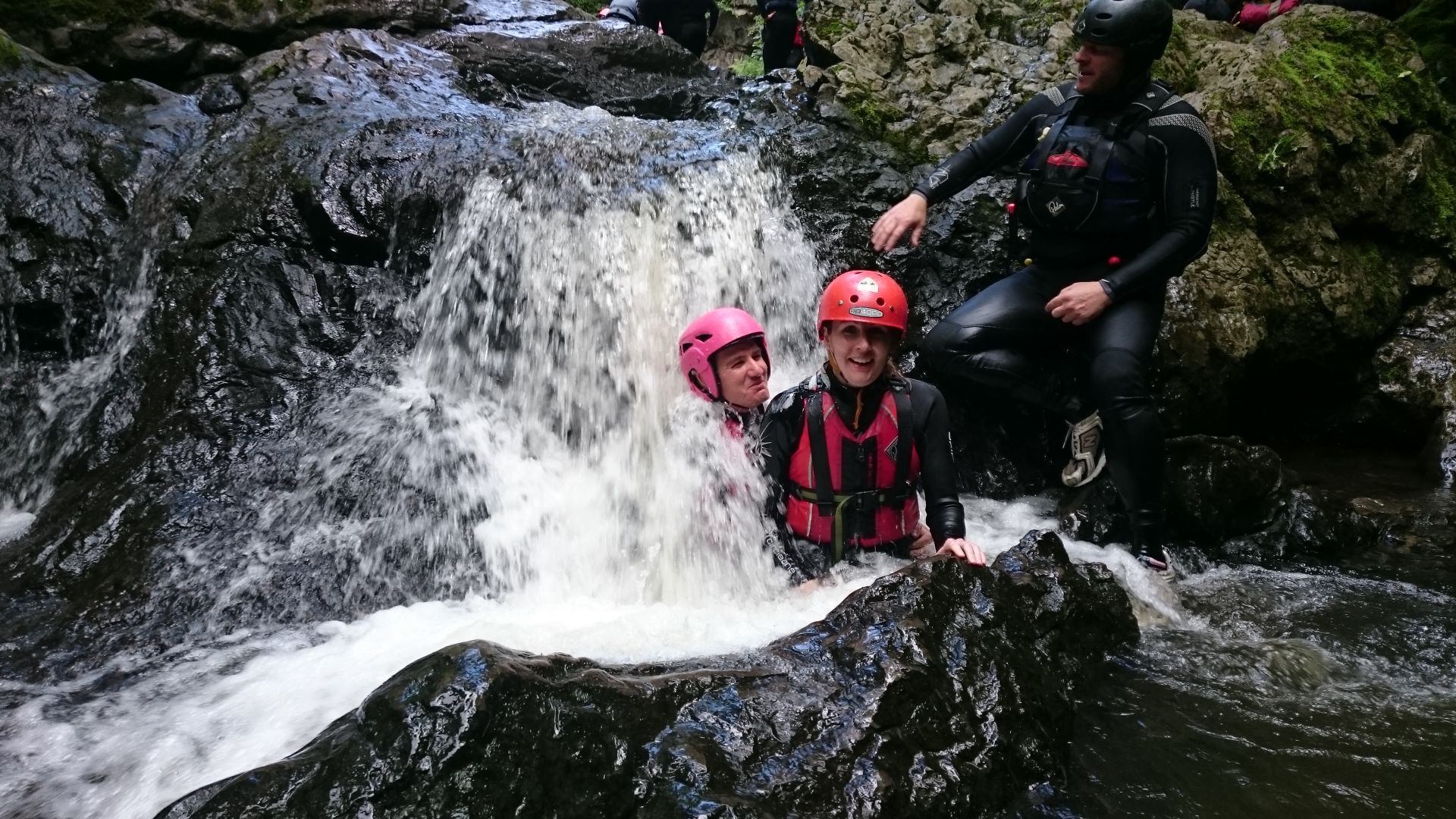 Getting wet at timotei in the Sychryd gorge
