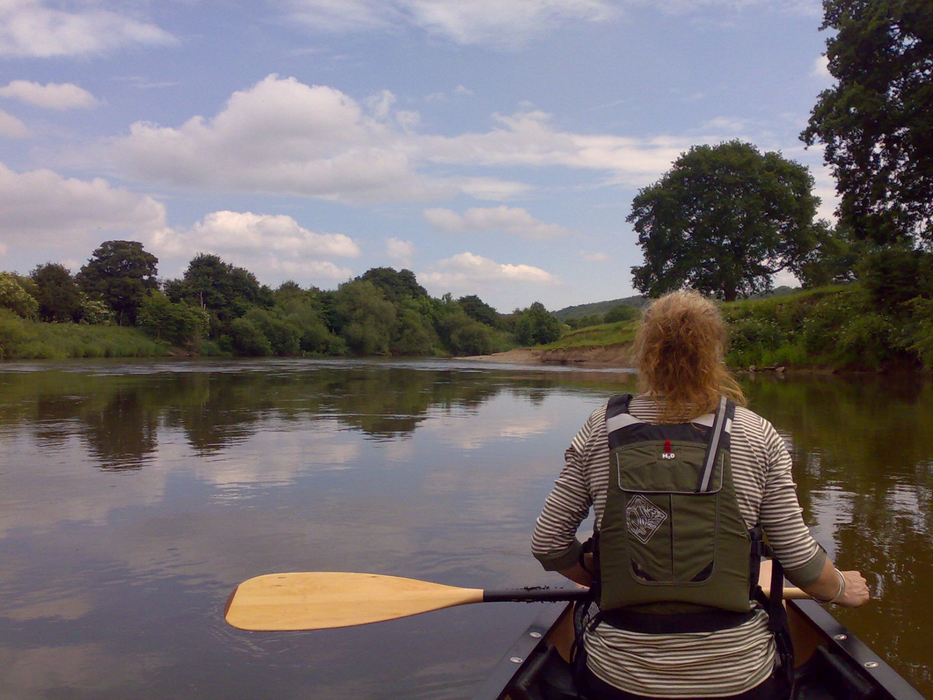 On the river at Hoarwithy2