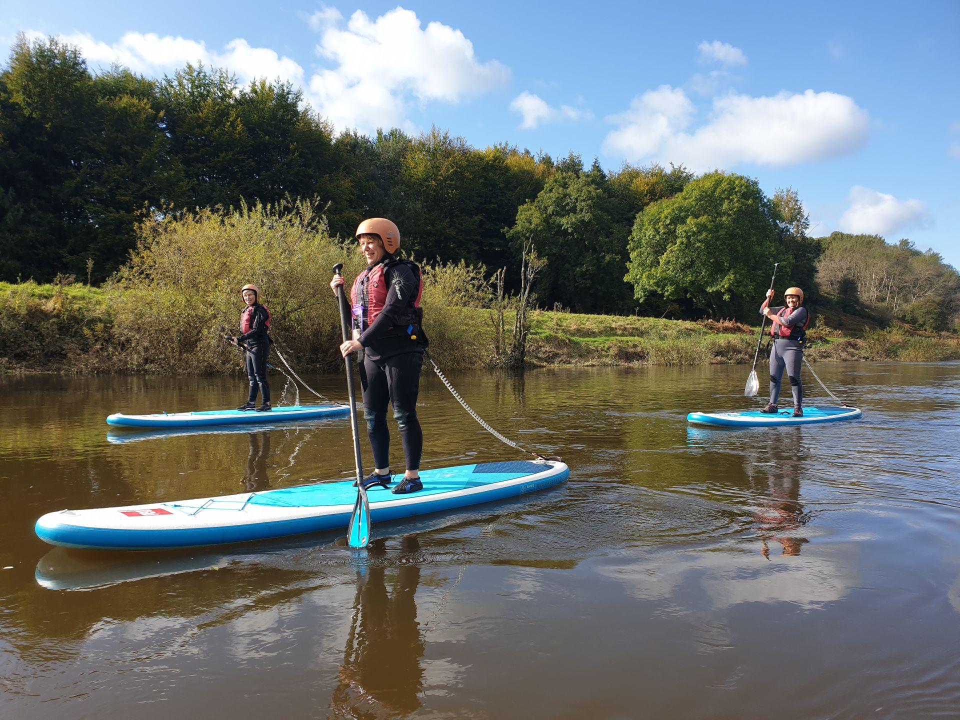 Paddle Boarding on the Wye.