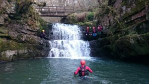 Nathan gorging on the Sychryd