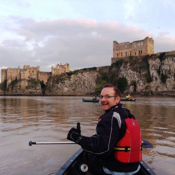 Approaching Chepstow Castle