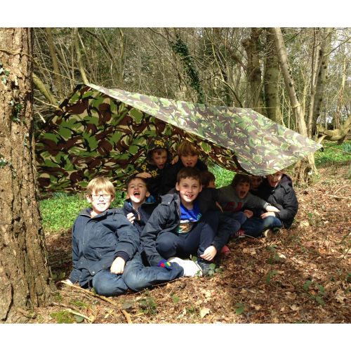 A young bushcraft group.